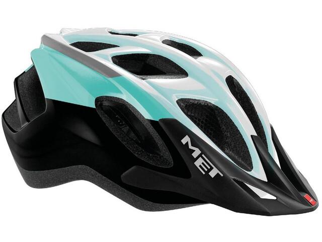 MET Funandgo Helm emerald green/black/white metallic